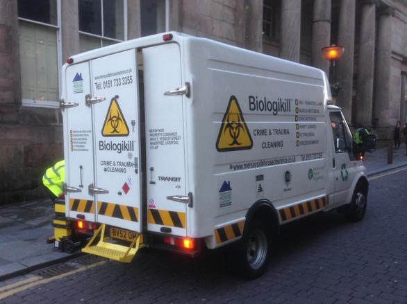 Biologikill Van Liverpool  #callthecleaners